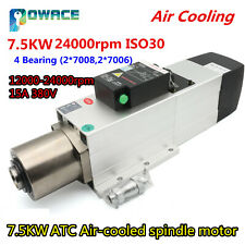 CNC 7.5KW ATC Air Cooled Spindle Motor Automatic Tool Change ISO30 380V 24000rpm