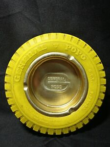 """VTG GENERAL/POPO -VERY RARE OLD MEXICAN ASHTRAY PROMOTIONAL TIRE GOOYEAR 6"""""""