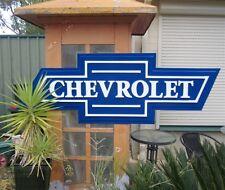 HUGE CHEVY BOWTIE Sign Chevrolet Dealership -i Petrol Oil  - garage workshop