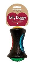 Rosewood Throw and Flash Dog Bone Toy Impact Play Time Fetch Multi Coloured