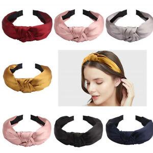 Women Headband Twist Hairband Bow Knot Cross Tie Wide Headwear Hair Band Hoops