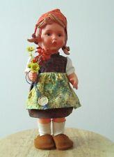 "RARE Orginal M J Hummel Goebel Doll 11"" Germany girl Aus Dem Hause shoes w/tags"