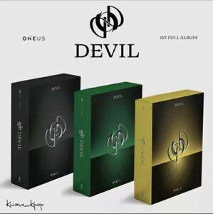 ONEUS - DEVIL (1ST FULL ALBUM) - KPOP SEALED+FOLDED POSTER+AUSTRALIA TRACKING