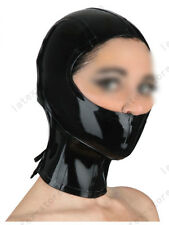 738 Latex Rubber Gummi Mask Binder Hood customized catsuit 0.7mm lace up costume