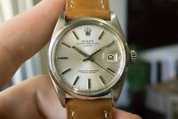 Rolex Oyster Perpetual Date ref. 1500 circa 1970's New Crystal Mens Steel Watch