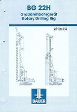 Equipment Brochure - Bauer - BG 22H  - Rotary Drilling Rig - c2002 (E3435)