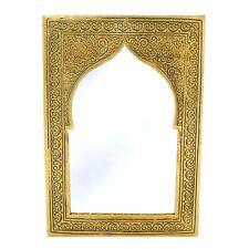 Orientalischer Marokkanischer Spiegel Messing Orient Marokko Wandspiegel S05 H28