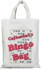 PERSONALISED - BINGO BAG - SMALL - NATURAL COTTON BAG