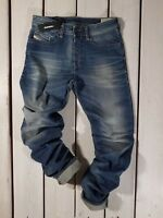 RRP $199 NEW DIESEL MEN'S JEANS BUSTER 0850K REGULAR SLIM TAPERED STRETCH BLUE