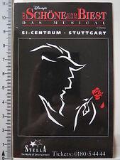Aufkleber Sticker Die Schöne und das Biest Musical (3971)