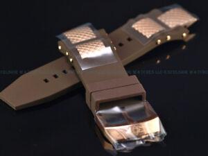 New Genuine Invicta 28mm Subaqua Noma 3 Brown Rubber Strap W/ RoseGold IP Buckle
