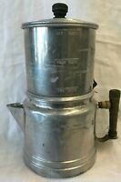Vintage Aluminum Small 2- 6 Cup Drip Coffee Pot 4 Pieces FREE SHIPPING.