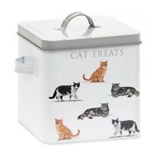 Macneil Cat Treats Storage Tin Dry Pet Food Kittens Treat Retro Container Box