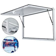 """Concession Stand Serving Window 64"""" X 40"""" Food Truck Service Awning - No Glass"""