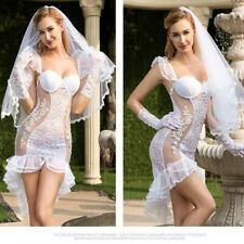 Sexy Bride outfit 2 fancy dress Hen night Lingerie, Sexy wedding costume Size M