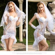 Sexy Vestido elegante traje de ropa 2 Novia Hen Noche Lencería, Sexy Disfraz De Boda Talla M