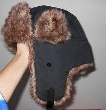 STUNNING! MEN'S WOMEN'S UNISEX FAUX FUR SKI COSSACK TRAPPER HAT WITH EAR FLAPS