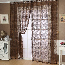 European Classical Style Tulle Window Screens Balcony Vorhang Panel Curtain