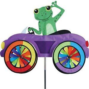 Frog in a Car Spinner, Whirligig, Garden Stake by Premier Design