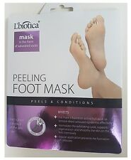 L'biotica Natural Exfoliating Peel Foot Sock Mask lbiotica 40ml