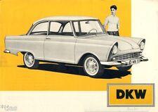 Auto Union DKW 600 PKW car auto original brochure Prospekt 1957