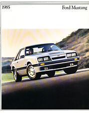 1985 Ford Mustang 26-page Car Sales Brochure Catalog - Convertible GT SVO LX
