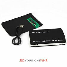 CAJA EXTERNA USB CARCASA PARA DISCO DURO 2,5 IDE EXTERNO CABLE FUNDA NEGRA