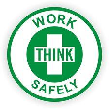 Think Work Safely Hard Hat Decal / Helmet Sticker Laborer Worker Safety
