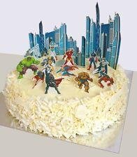 SUPERHERO SCENE stand up edible cake decoration set