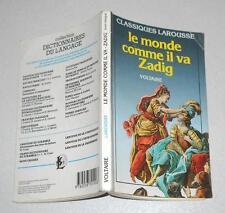 VOLTAIRE Le monde comme il va Zadig - Larousse 1991 OTTIMO in francese