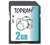 TOPRAM 2GB SD 2G SD V1.1 secure digital flash card for GPS non-SDHC bulk