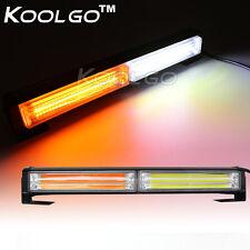 36W COB LED Emergency Beacon DRL Fog Strobe Flash Bumper Light Bar Amber White