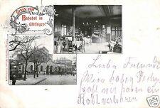 17195/ Foto AK, Gruss vom Bahnhof Göttingen, 1901