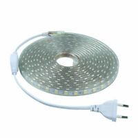 5050 LED Strip 220V 230V 60leds/m Flexible tape rope Light Waterproof SMD 1M-10M