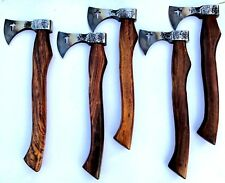 MDM 5 x HAND FORGED HIGH CARBON THROWING AXE CAMPING BURCHCRAFT HOLLY CROSS AXE