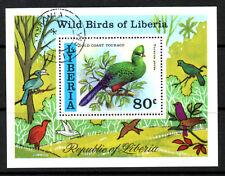 (Ref-5955) Liberia 1977 Liberian Wild Birds  SG.MS1313  M/Sheet  Used (C.T.O)