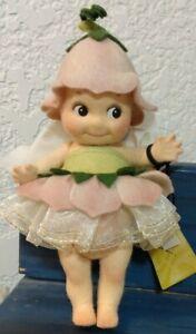 "Felt Art Doll by R. John Wright Kewpie ""Fleur"" 1999 All original box, tags UFDC"