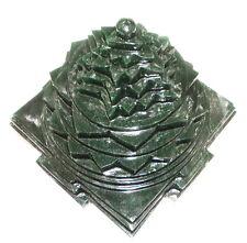 Green Jade Shree Yantra / Shri Yantra In Natural Green Jade - 2175 gm