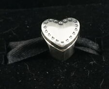 Authentic Pandora Two Tone Silver & 14k Gold Gift From the Heart Charm 791247CZ