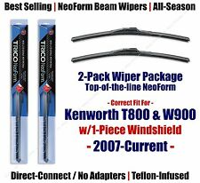 Wipers 2pk Premium fit 2007+ Kenworth T800 W900 w/1-Piece Glass 16180x2