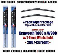 Wipers 2-Pack Premium fits 2007+ Kenworth T800 W900 w/1-Piece Glass - 16180x2