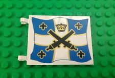 *NEW* Lego 4x7 Blue Imperial Cannon Crown Flag Clips Pirate Ship Battles x 1