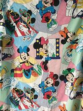 Minnie Mouse Twin Flat Sheet Fabric Primary Colors Cutter Sewing Craft Vtg 80s