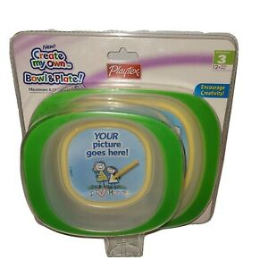 Playtex Create My Own Bowl & Plate Stage 3 Green
