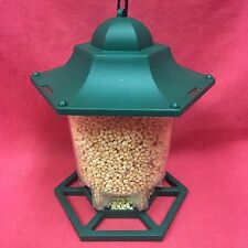 Hexagon Plastic Wild Garden Bird Feeder 6 Multi Port Perch FREE CHOPPED PEANUTS