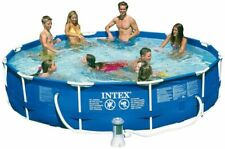 """🌊 Intex 12' x 30"""" Metal Frame Round Above Ground Swimming Pool with Pump 🌊"""