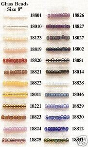 Mill Hill size No. 8 Glass Beads - Col. No. 18002 - 18831
