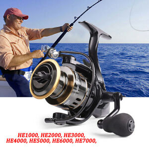 Fishing Reel HE1000-7000 Max Drag 10kg High Speed Metal Spool Spinning Reels