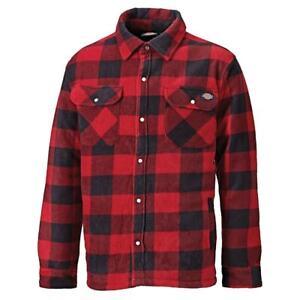 Dickies Thermohemd Portland - Holzfällerhemd - Farbe Rot/Schwarz - NEU - SH5000