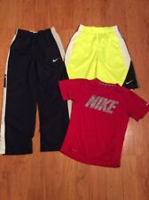 Nike Dri Fit Boys Youth Pants Shorts And Tshirt Navy Blue Yellow Red Size M
